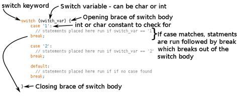 exle arduino switch case arduino switch and break statements programming course
