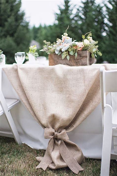 rustic table linens for weddings best 10 groom table ideas on