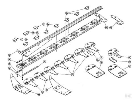 kuhn mower parts diagram kr cutter bar suitable for kuhn gmd 600 700
