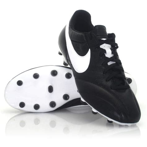 nike premier fg mens football boots black white