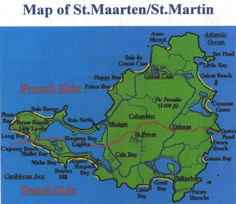 st martin map pj8a and pj7b st maarten web page