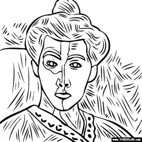 100 free coloring page of the henri matisse painting
