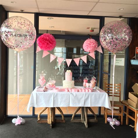 Confetti Decorations by Cake Table Decor Confetti Balloons Birthday