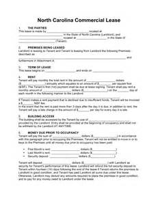 commercial building lease agreement template free carolina commercial lease agreement template
