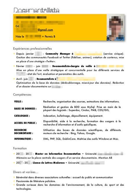Modèle Cv Professionnel 2016 by Exemple De Cv Gratuit Avec Objectif Professionnel Sle