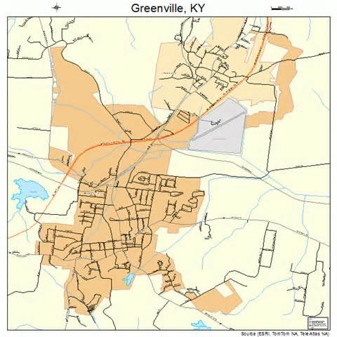 greenville kentucky map 2133022