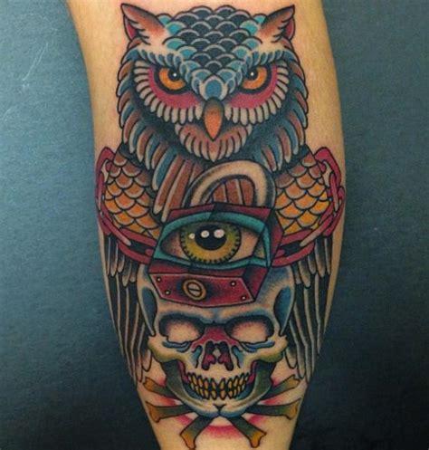 tattoo prices long island arm new school skull owl lock tattoo by da vinci tattoo