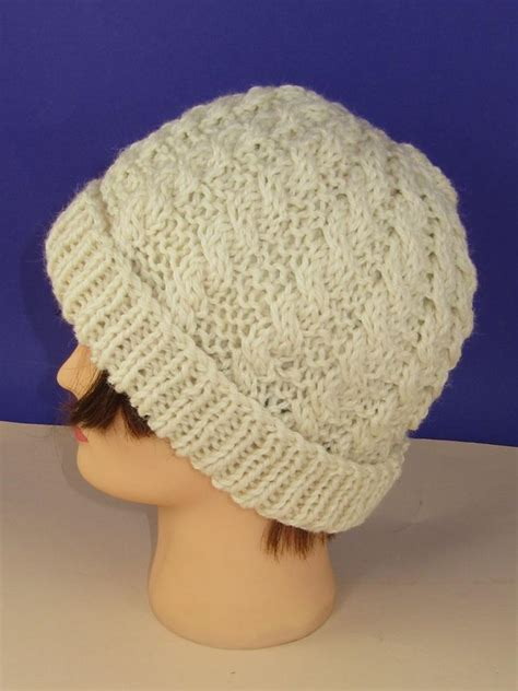 beanie hat knitting pattern for easy cable chunky unisex beanie hat knitting pattern by