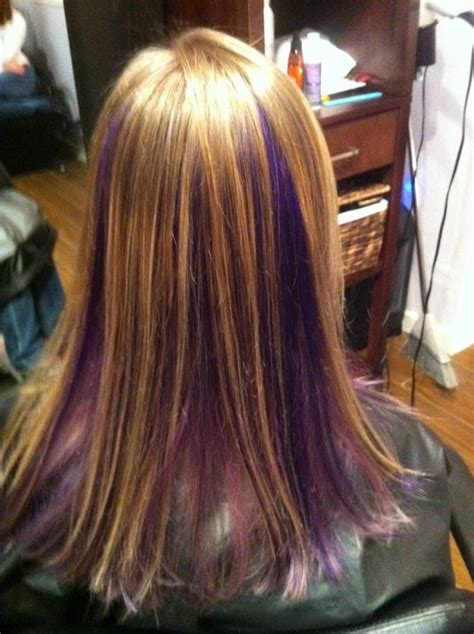 hairstyles with color panels purple panels hair color purple salon hair my work