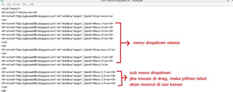 membuat menu dropdown html cara membuat menu drop down tanpa edit html