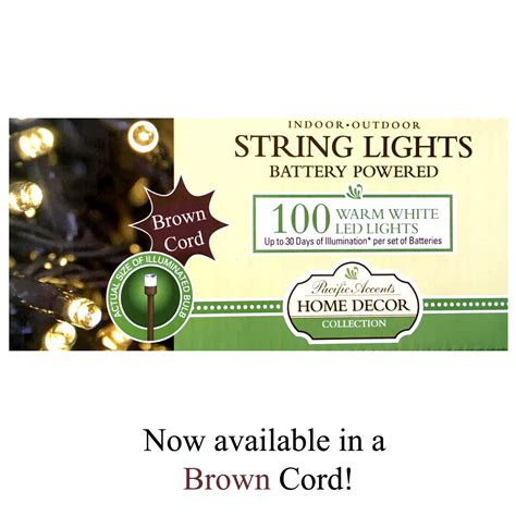 100 battery operated led string lights wholesale battery operated brown string lights 100 led