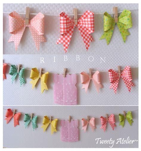 Origami Paper Ribbon - diy wedding garland