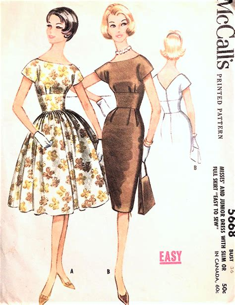 garment pattern engineering 1960s beautiful evening party cocktail dress pattern
