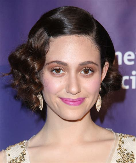 Emmy Trends Updos by Emmy Rossum Wavy Formal Hairstyle