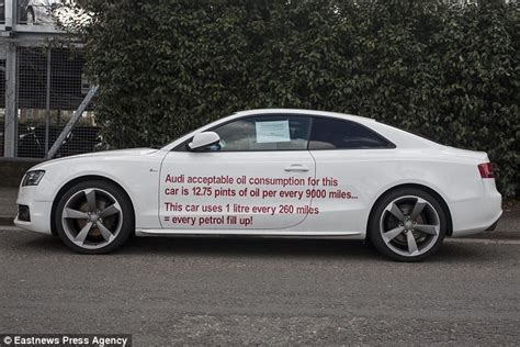 Audi Slogan by Motorist Plasters His Audi A5 With Slogans And Parks It