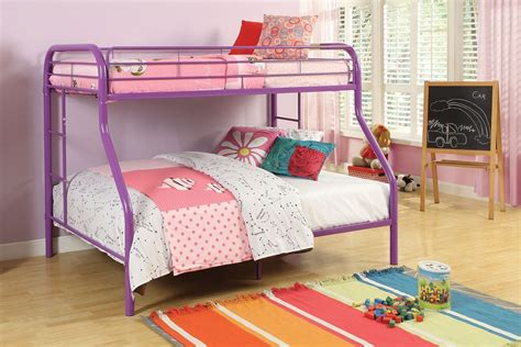 purple bunk beds metal purple finish bunk bed