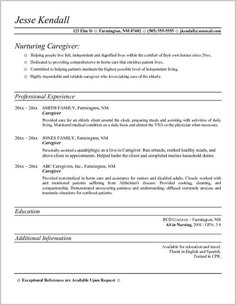 sle structure of a cover letter for caregiver cover