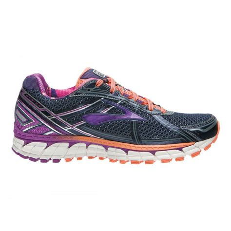 structured running shoes adrenaline gts in grey and purple d width for