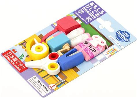 imagenes de borradores escolares iwako erasers school supplies 7 pieces rubber set pink