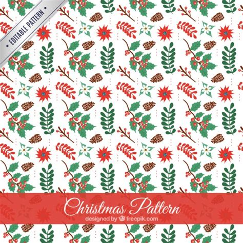 christmas pattern download floral christmas pattern vector free download