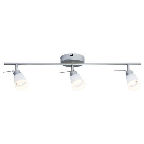 ikea lighting kitchen basisk ceiling track 3 spotlights nickel plated white