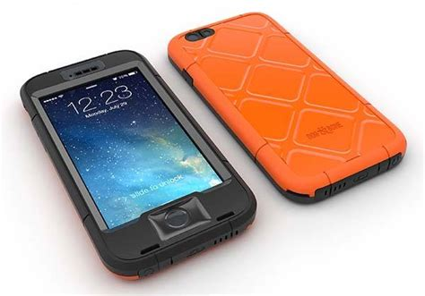 Mei Lunatik Black For Iphone 6 Plus bone wetsuit waterproof iphone 6 plus and iphone 6