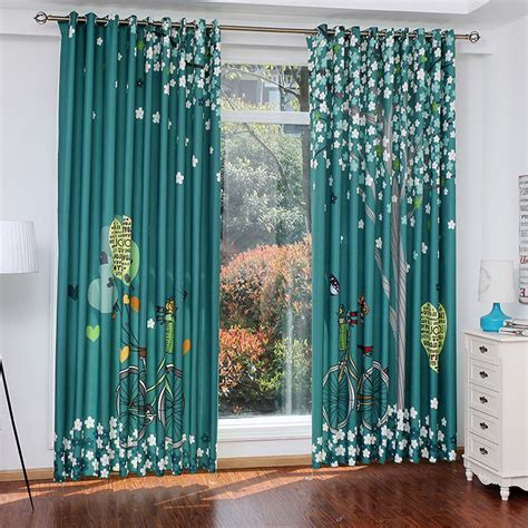 Green Patterned Curtains Green Decorative Patterned Curtains And Panels