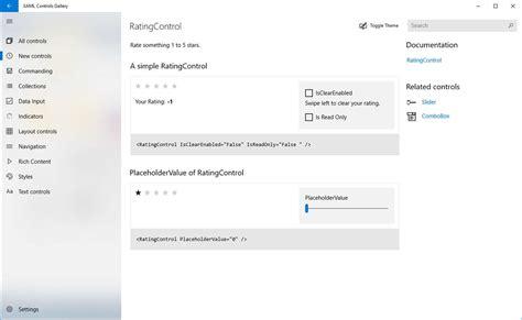xaml update layout xaml controls gallery la nuova applicazione di microsoft