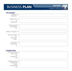 business plan templates 38 exles in word free