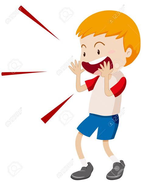 screaming clipart shouting pencil and in color screaming - Clipart Yelling