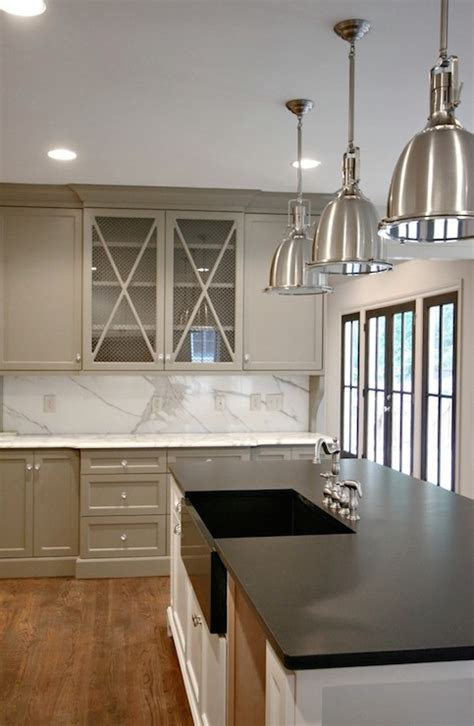 Black And Grey Kitchen Cabinets Gray Kitchen Cabinet Paint Colors Transitional Kitchen Benjamin Whale Gray Modern