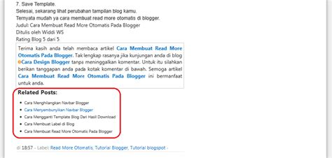 cara membuat post dan fungsi tool di blog m4sdoel blog cara membuat related post