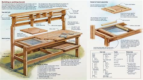 free potting bench plans pdf outdoor potting bench potting bench plans free pdf pallet