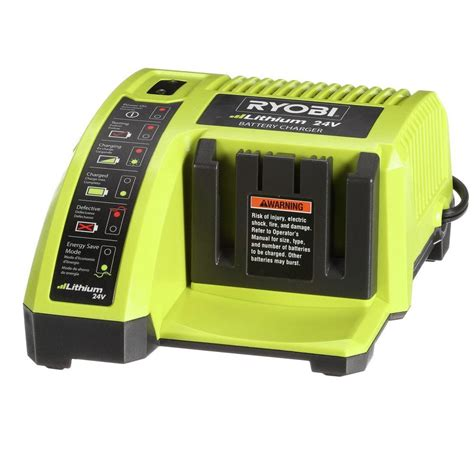 battery charger home depot ryobi 24 volt lithium ion charger op140a the home depot