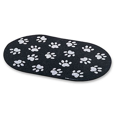 paw print rubber st jumbo recycled rubber paw print placemat bed bath beyond