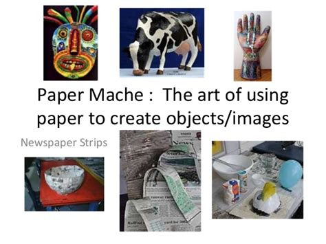 How To Make Paper Presentation - paper mache powerpoint