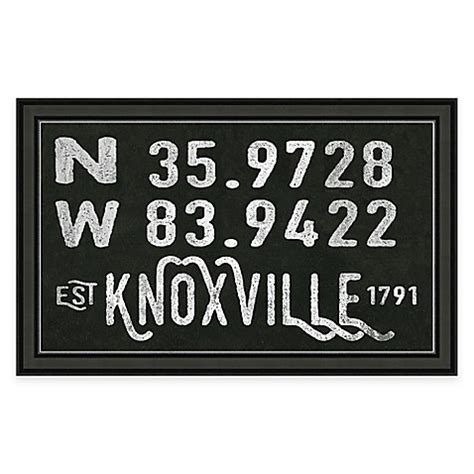 bed bath and beyond knoxville tn knoxville tennessee coordinates framed wall art bed