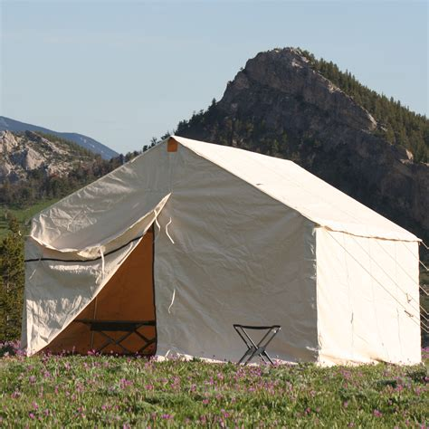 Awning Tent by Canvas Wall Tent Out West Better