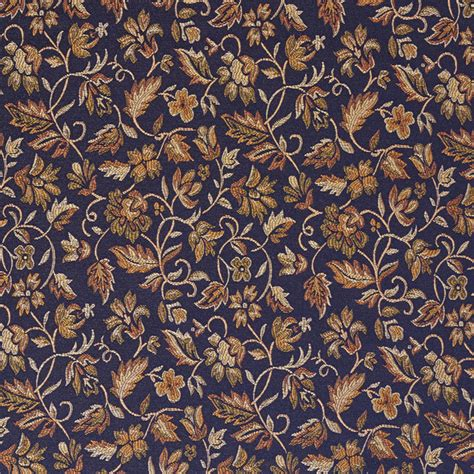 Blue Yellow Upholstery Fabric Navy Blue Yellow Green Floral Damask Upholstery And