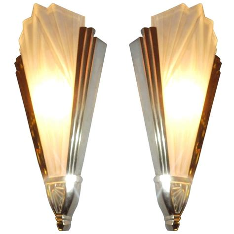 art deco wall light with white glass and mirror panels powell wall hooded white paint bathroom bronze and glass