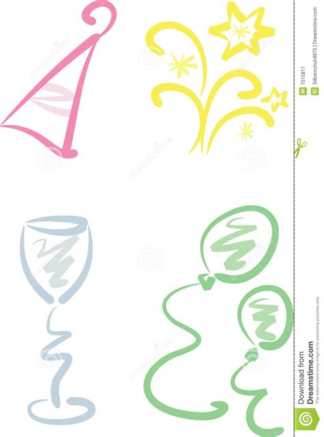 new year clip set clip set new year stock image image 7515811