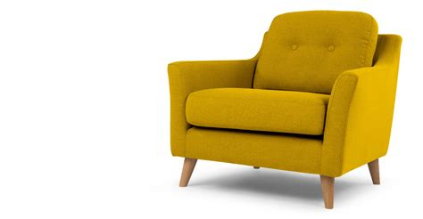 yellow armchair rufus armchair mustard yellow made com