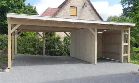 Carport Flachdach flachdach carports holzgaragen als individueller bausatz