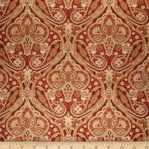 designer fabric jaclyn smith 02102 paisley tapestry jacquard brick