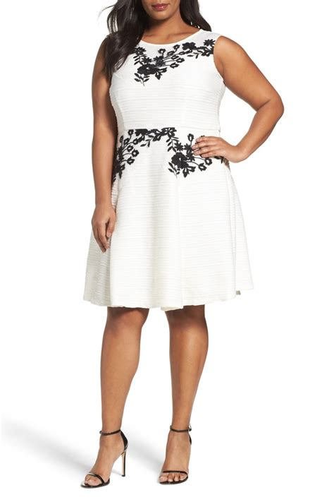 Dress Rainy Fit L embroidered fit flare dress plus size nordstrom rack