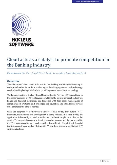 tier 3 banks whitepaper cloud is empowering the tier 2 and tier 3