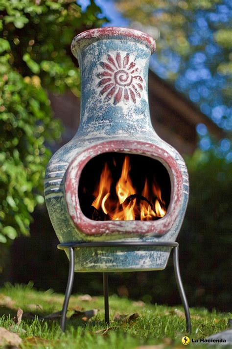 chiminea clay mexican clay chimenea swirl chiminea patio heater