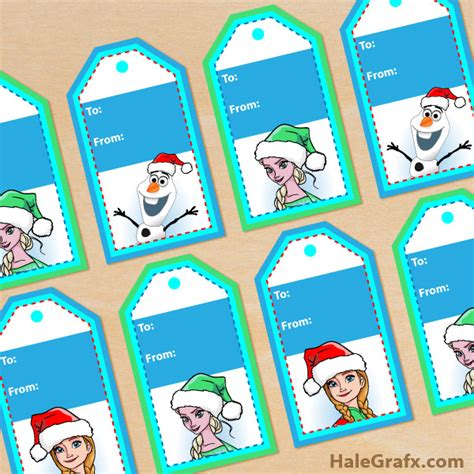 printable frozen favor tags free printable christmas frozen gift tags