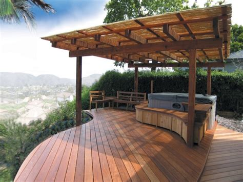 tub patio ideas luxury decks and patios backyard deck