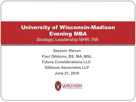 Uw Evening Mba Tuition by Introduction To Change Management For Mbas